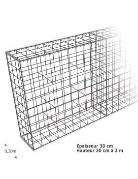 Cloture en Gabion Epaisseur 30 cm
