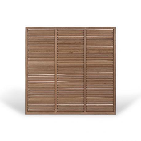brise vue bois exotique isaura twin pour cloture et palissade. Black Bedroom Furniture Sets. Home Design Ideas