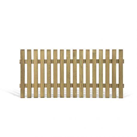 Petite cloture en bois awesome sol en dalle de bton - Petite barriere de jardin en bois ...