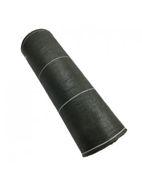 Toile de paillage en polypropylène tissé vert 90 gr/m² en rouleau 100m