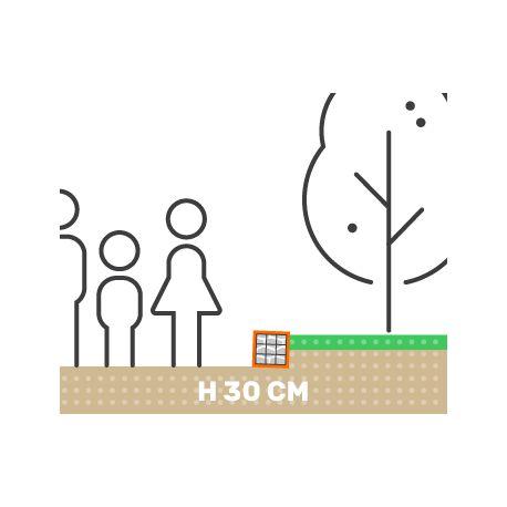 Mur soutenement Gabion Plat sans Surcharge
