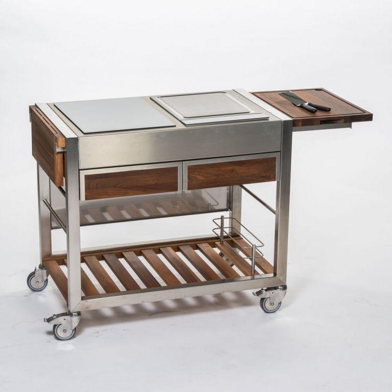 Cuisine mobilier ext rieur terrasse plaque induction for Exterieur ou exterieure
