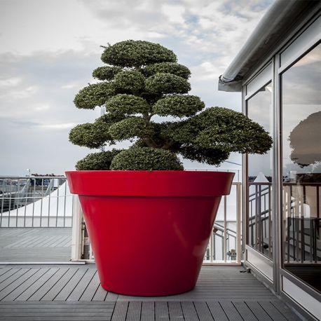 pot rond design pot d cor pour plante pour terrasse et jardin papi. Black Bedroom Furniture Sets. Home Design Ideas