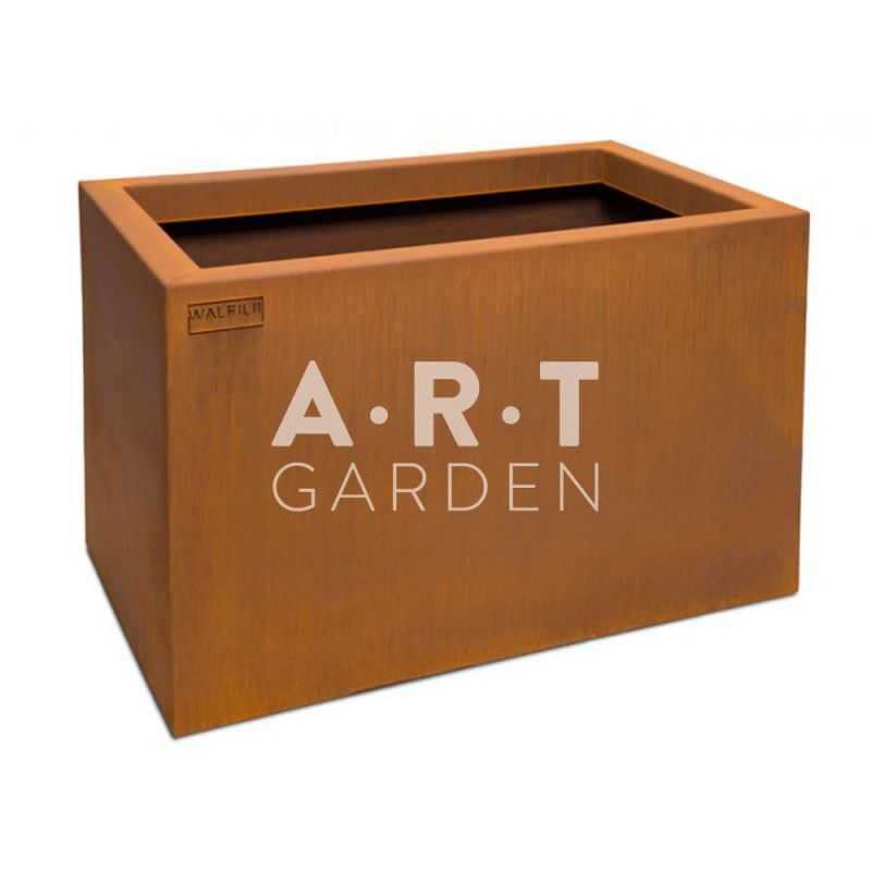 pot ou jardini re design fabriqu la main pot acier. Black Bedroom Furniture Sets. Home Design Ideas
