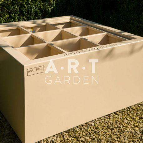 Jardinière design Walfili Herbes pour plantes aromatiques en acier laquée 120 x 120 x 40 cm