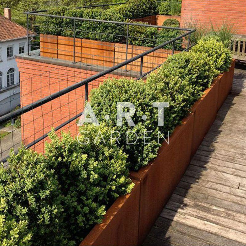 Jardini re design walfilii mar qualit 4 pot acier corten for Bordurette acier pour jardin