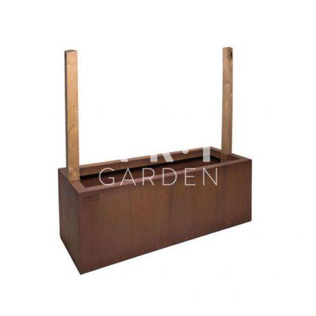 Jardinière design Walfilii Hedge pour votre jardin look industriel en acier corten