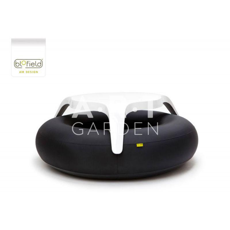 Table de jardin pour terrasse exterieure donuts original black - Table exterieure design ...