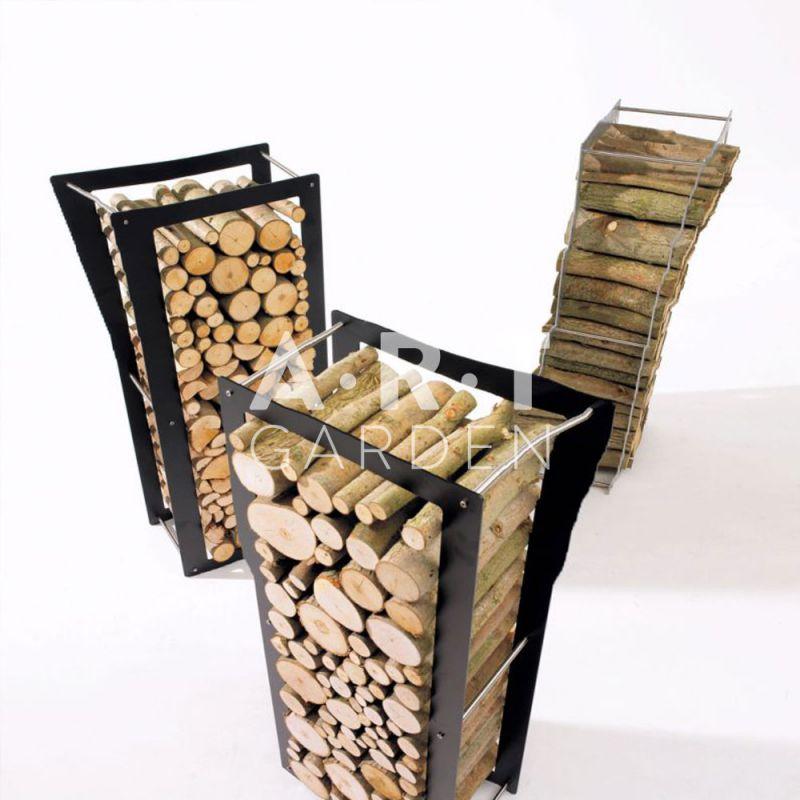 Rangement pour bois exterieur maison design - Porte buche exterieur ...