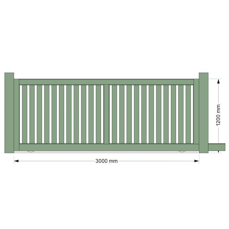 Portail coulissant alu pas cher fabriqu en france europortail for Table exterieur 2m60