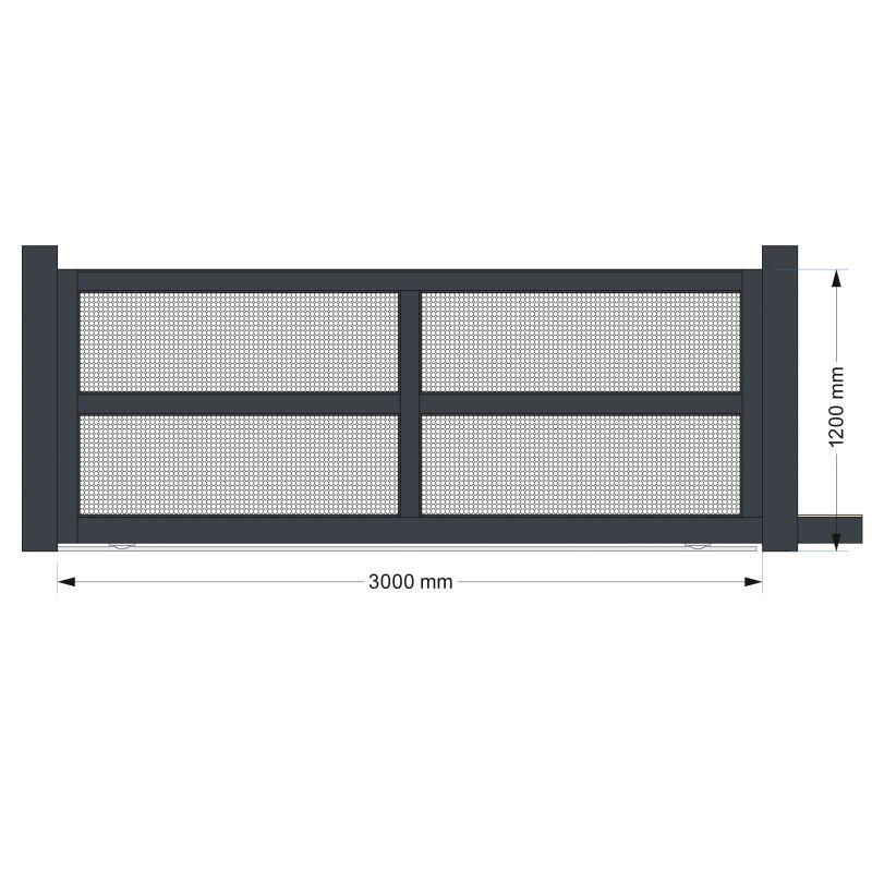 Portail coulissant 4m en aluminium top qualit for Portail coulissant 1m80