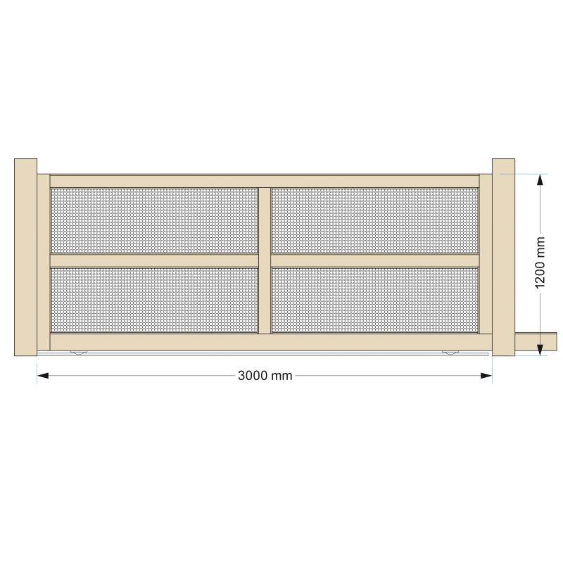 Portail coulissant 4m en aluminium top qualit for Table exterieur 2m60