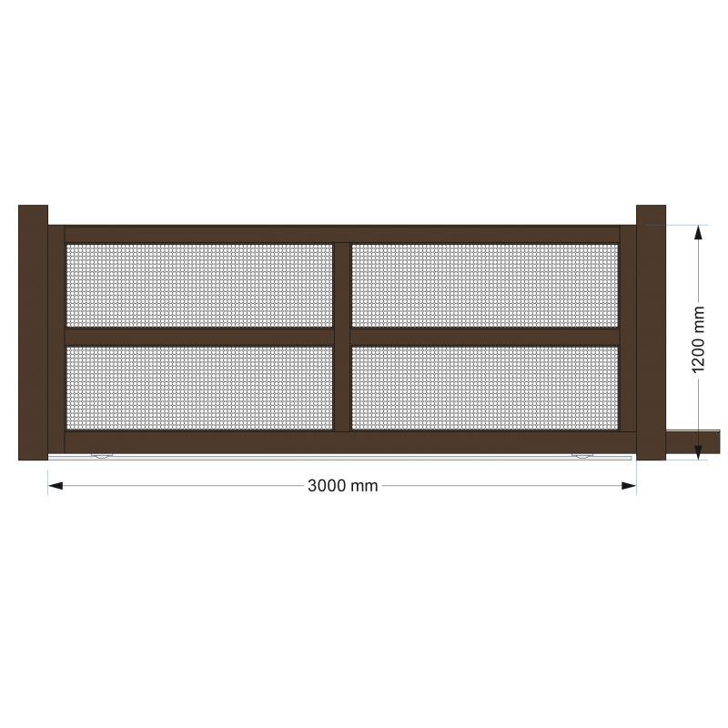 portail coulissant 4m en aluminium top qualit. Black Bedroom Furniture Sets. Home Design Ideas