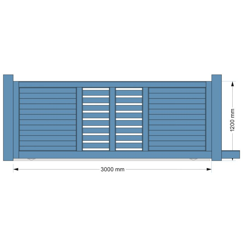 Portail design en alu et totem assorti par europortail for Portail coulissant 3m aluminium