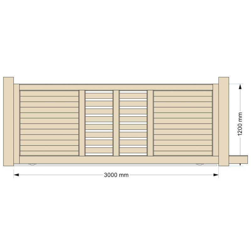 Portail design en alu et totem assorti par europortail for Table exterieur 2m60