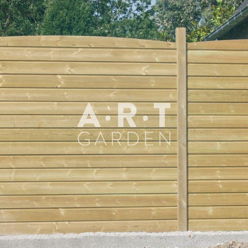 Ecran massif profil de 21 mm sp cial pour cl ture en pin rouge collstrop - Planche bois pour portail ...