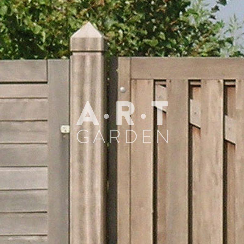 Poteau padouk 16 5 x 16 5cm garantie de 25 ans de couleur - Poteau bois carre ...