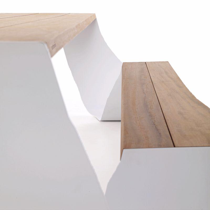 Table pour jardin et terrasse exterieure design hopper for Design exterieur