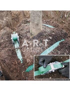 KIT ANCRAGE de MOTTE ECO avec SANGLE pour arbre 2 à 4m