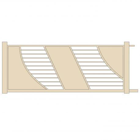 Portail coulissant alu grande largeur avec motorisation en for Table exterieur 2m60