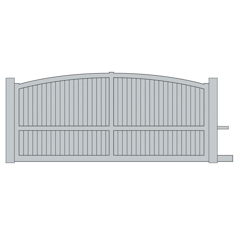Portail coulissant aluminium compiegne europortail art for Portail electrique coulissant 3m