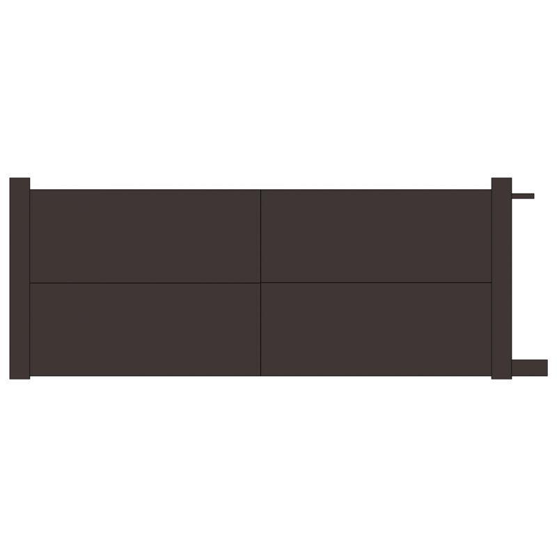 Portail coulissant aluminium horizon europortail art garden for Table exterieur 2m60