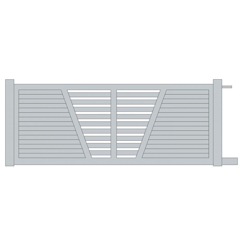 Portail coulissant aluminium marcilly europortail art garden for Table exterieur 2m60