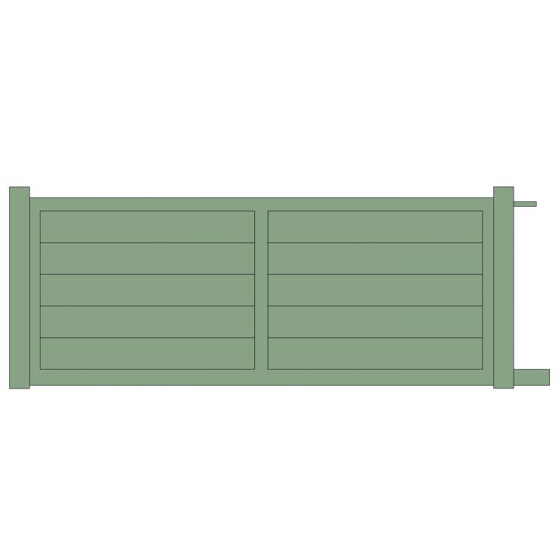 Portail coulissant alu panneau plein motorisable for Table exterieur 2m60
