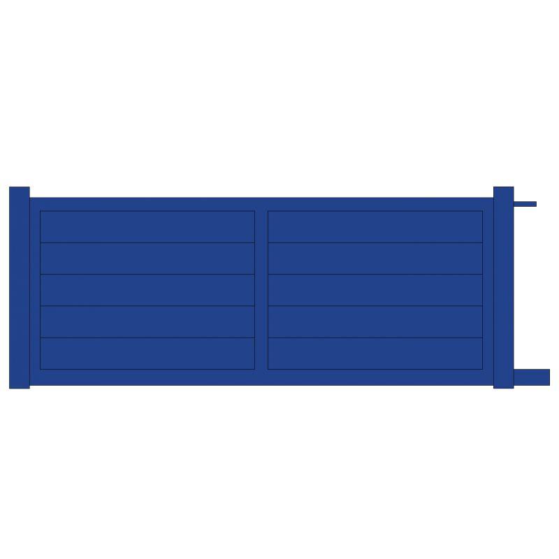 Portail coulissant alu panneau plein motorisable for Portail coulissant 1m80