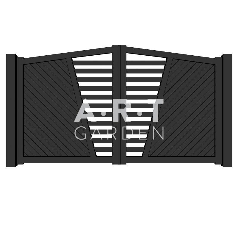 Portail alu chapeau de gendarme style contemporain ascott for Art minimal livre