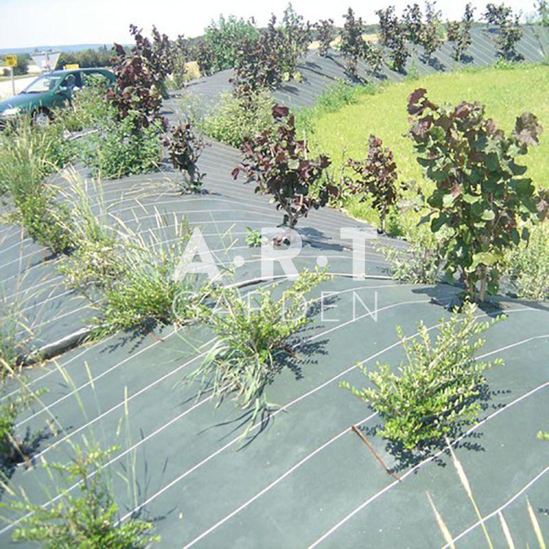 Toile de paillage marron pour paillage de jardin ou talus - Agrafe pour toile de paillage ...