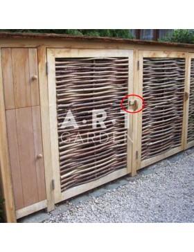 Système de fermeture en chêne pour portillon