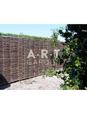 Panneaux en noisetier Tressage Horizontal 180x180