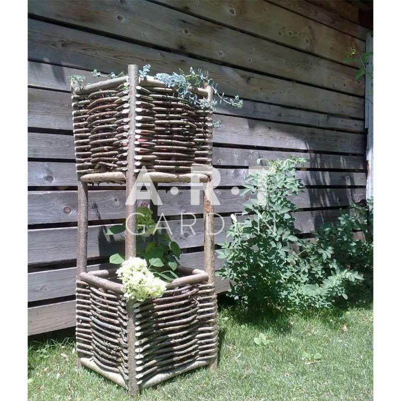 Jardini re haute en bois de noisetier 100 cologique - Jardiniere haute en bois ...