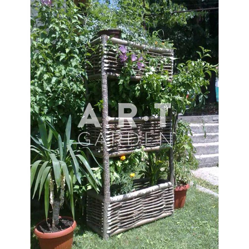 jardini re haute en bois de noisetier 100 cologique. Black Bedroom Furniture Sets. Home Design Ideas