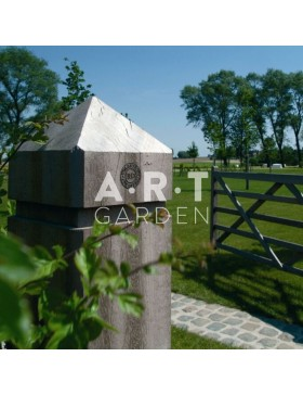 Poteau bois exotique carré 14,1x14,1 cm pointe de diamant Collstrop Exo