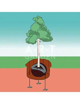 Kit ANCRAGE de MOTTE avec CABLE Platipus pour arbre jusqu'à 12m