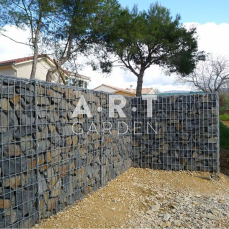 Mur en galets grillage simple mur de galet exterieur r alisation d un muret en youtube with mur - Grillage pour gabion ...