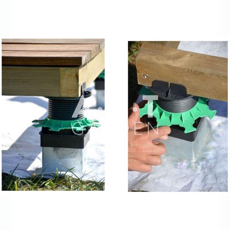 plot terrasse bois pour pieux m tallique jouplast elevo. Black Bedroom Furniture Sets. Home Design Ideas
