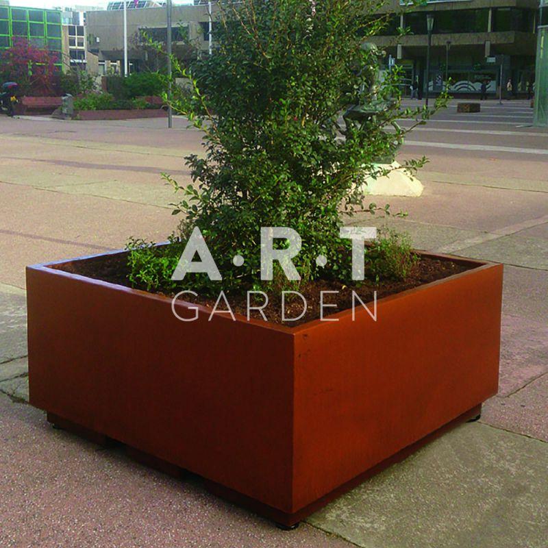 Jardini re acier corten prix special negoce - Brasero de jardin belgique ...
