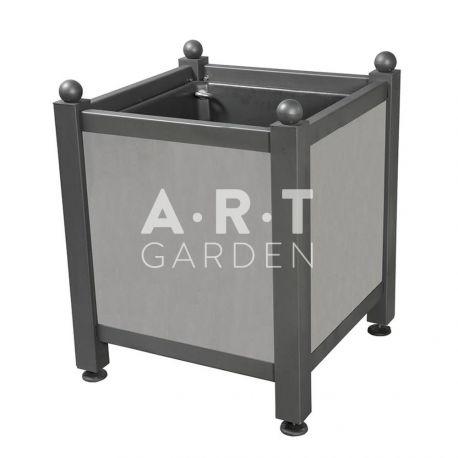 Bac d'orangerie acier avec panneaux tôle lisse Dualis Atech