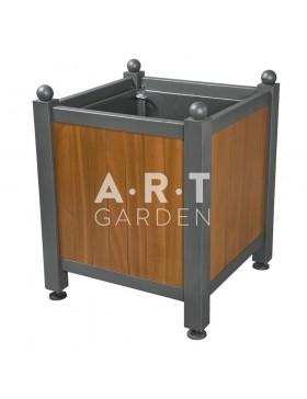 Bac d'orangerie acier avec panneaux bois Dualis Atech