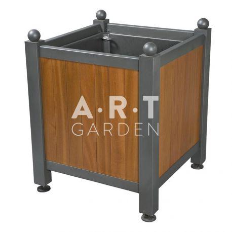 bac d 39 orangerie acier avec panneaux bois dualis atech art garden. Black Bedroom Furniture Sets. Home Design Ideas