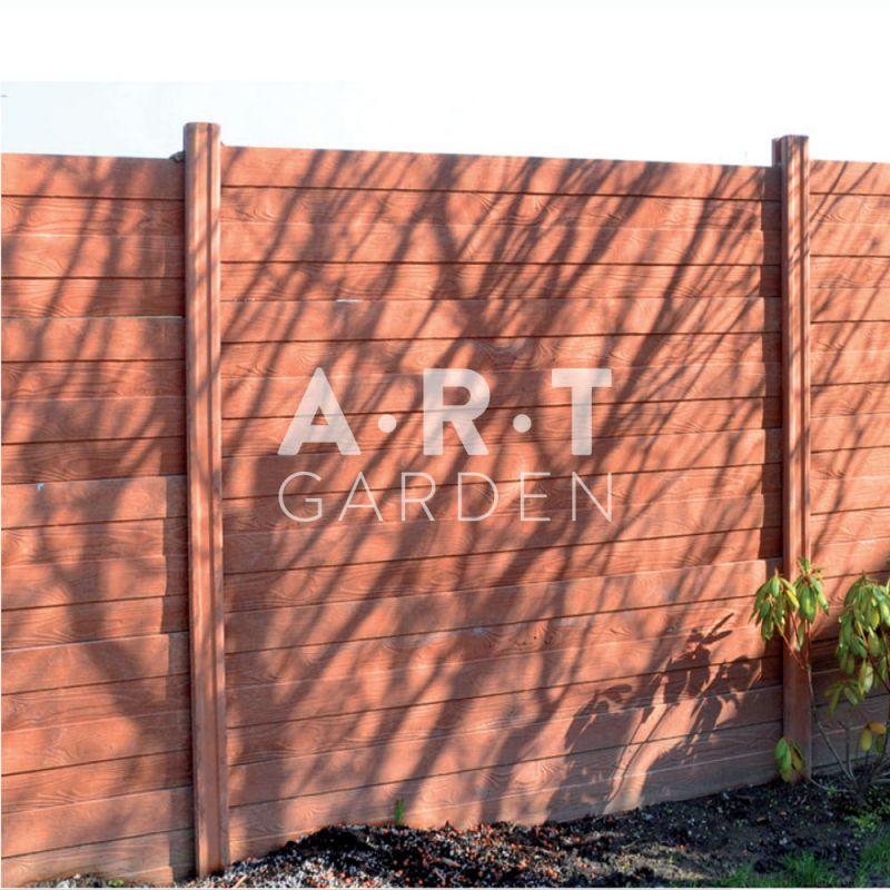 Cloture b ton imitation bois plusieurs coloris - Cloture beton imitation bois ...