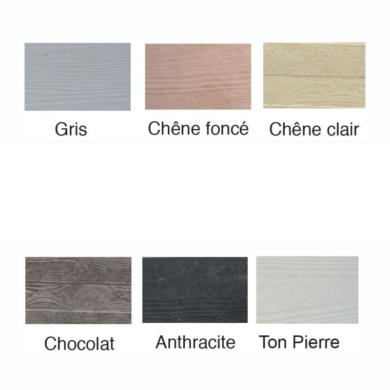 cloture b ton imitation bois plusieurs coloris. Black Bedroom Furniture Sets. Home Design Ideas