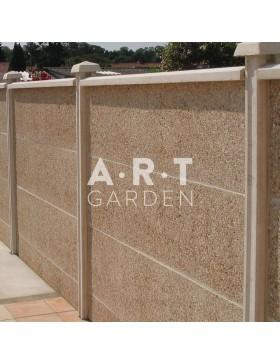 Cloture béton plaque 1 face gravillons lavés Ton Pierre 192 x 50 x 4 cm