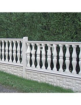 Cloture béton plaque ajourée colonne 200 x 80 x 5,5 cm