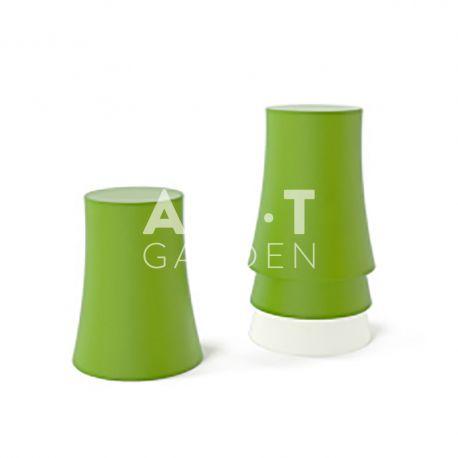Tabouret 1x4 slide vert + blanc moderne