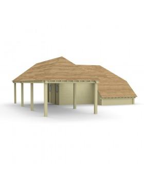 Poolhouse Model 45+ 1013,8x1013,8 cm