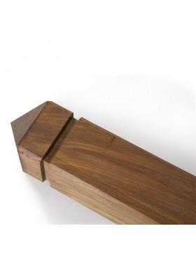 Poteau bois exotique carré 9x9 cm pointe de diamant Collstrop Exo